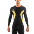 Skins DNAmic Men's Long Sleeve Top - Black/Citron: Image 1