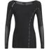 Skins DNAmic Women's Long Sleeve Top - Black/Limoncello: Image 1