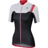 Sportful BodyFit Women's Short Sleeve Jersey - Black/White/Pink: Image 1