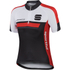 Sportful Gruppetto Children's Short Sleeve Jersey - Black/Red: Image 1