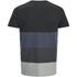 Jack & Jones Men's Core Dylan Block Stripe T-Shirt - Black: Image 2