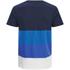 Jack & Jones Men's Core Dylan Block Stripe T-Shirt - Navy Blazer: Image 2