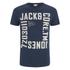 Jack & Jones Men's Core Wall T-Shirt - Navy Blazer: Image 1