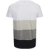 Jack & Jones Men's Core Dylan Block Stripe T-Shirt - White: Image 2