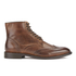 H Shoes by Hudson Men's Greenham Leather Brogue Lace Up Boots - Cognac: Image 1