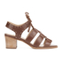 Dune Women's Ivanna Leather Strappy Heeled Sandals - Tan: Image 1