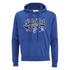 Soul Cal Men's Cracked Print Logo Hoody - Cobalt Blue: Image 1