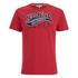 Soul Cal Men's Cracked Print T-Shirt - Ribbon Red: Image 1