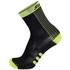 Santini Two Medium Profile Socks - Black/Yellow: Image 1