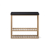 Wireworks Hello Storage Console Table - Black: Image 1