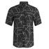 McQ Alexander McQueen Men's Short Sleeve Shields 01 Angle All Shirt - Black Angle: Image 1
