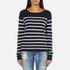 ONLY Women's Mila Stripe Long Sleeve Top - Night Sky: Image 1