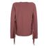 ONLY Women's Madge Long Sleeve O-Neck Tassel Sweatshirt - Marsala: Image 2