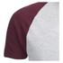 Brave Soul Men's Baptist Raglan Sleeve T-Shirt - Ecru/Burgundy: Image 3