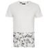 Threadbare Men's Pocket & Floral Hem T-Shirt - White: Image 1