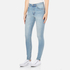 Cheap Monday Women's 'Second Skin' Skinny Fit Jeans - Stonewash Blue: Image 2