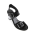 McQ Alexander McQueen Women's Shackwell Strap Heeled Sandal - Black: Image 2
