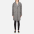 Carven Women's Oversized Two Buttoned Coat - White/Black: Image 1