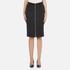 Carven Women's Full Zip Pencil Skirt - Black: Image 1