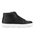 ETQ. Men's High Top 1 Rubberized Leather Trainers - Black: Image 1