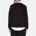 MSGM Women's Embellished Pocket Sweatshirt - Black: Image 3
