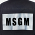 MSGM Women's Logo Back Oversized Denim Shirt - Black: Image 7
