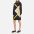 MSGM Women's High Neck Long Sleeve Dress with Contrast Diamond Print - Black: Image 2