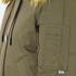KENZO Women's Removable Yellow Fur Lined Short Parka - Dark Khaki: Image 6