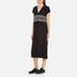 KENZO Women's Stripe Logo Mid Cotton Dress - Black: Image 2