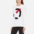 KENZO Women's K Logo Jumper - White: Image 2