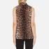 Boutique Moschino Women's Tie Neck Top - Leopard: Image 3