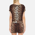 Boutique Moschino Women's Tie Waist Playsuit - Leopard: Image 3