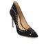 Sam Edelman Women's Hayden Suede Studded Court Shoes - Black: Image 2