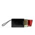 Lulu Guinness Women's Glitter Lipstick Pouch - Black/Red: Image 1