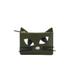 Lulu Guinness Women's Lottie Kooky Cat Pouch - Dark Sage: Image 1