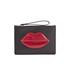 Lulu Guinness Women's Grace Medium Lips Clutch - Black/Red: Image 1