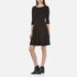 BOSS Orange Women's Dipleat Jersey Dress - Black: Image 2