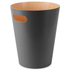 Umbra Woodrow Waste Can - Charcoal: Image 1