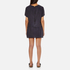 Maison Scotch Women's Straight Fit Zipper Dress - Blue: Image 3