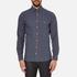 GANT Men's Small Indigo Tartan Shirt - Indigo: Image 1