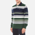 GANT Men's Stripe Heavy Polo Shirt - Pine Green: Image 2