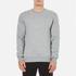 GANT Men's Embossed Crew Neck Sweatshirt - Grey Melange: Image 1