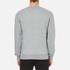 GANT Men's Embossed Crew Neck Sweatshirt - Grey Melange: Image 3