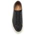Polo Ralph Lauren Men's Jermain Leather Trainers - Black: Image 3