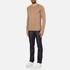 HUGO Men's San Francisco Cotton Silk Cashmere Jumper - Light/Pastel Brown: Image 4