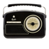 GPO Retro Rydell Portable DAB Radio - Black: Image 1