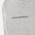 Cheap Monday Women's Break T-Shirt with Placed Text - Grey Melange: Image 5