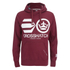 Crosshatch Men's Quon Kangaroo Pocket Hoody - Syrah: Image 1