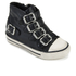 Ash Kids' Fanta Leather Hi Top Trainers - Black: Image 2