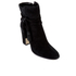 Dune Women's Onyx Suede Heeled Ankle Boots - Black: Image 2